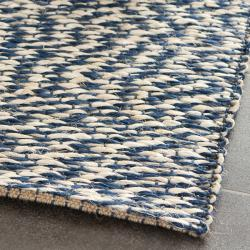 Handwoven Doubleweave Sea Grass Blue Rug (3' x 5')