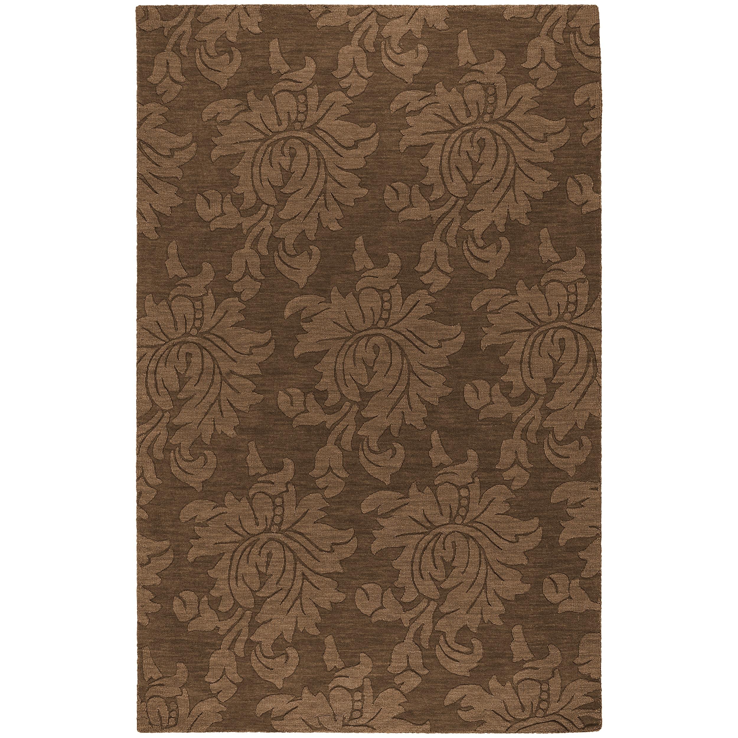 Hand tufted Sophia Brown Wool Area Rug (9' x 12')