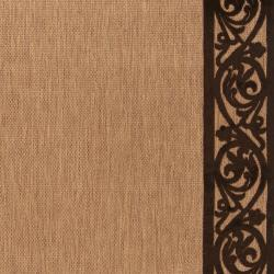 Garden View Beige and Beige Olefin Rug (3'9 x 5'8)