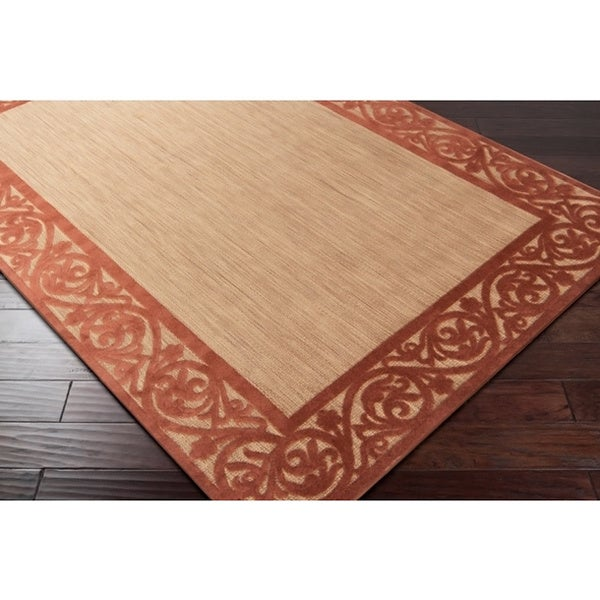 Woven Garden View Terra Cotta Olefin Area Rug (5'x7'6)