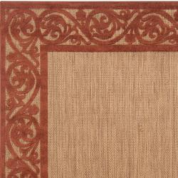 AT HOME by O Woven Garden View Terra Cotta Olefin Area Rug (7'5 x 10'6) at Sears.com