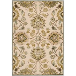 Woven Lauren Ivory Viscose/ Chenille Area Rug (4' x 5'7)