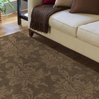 Hand Tufted Sophia Brown Wool Area Rug (5' x 7'9)