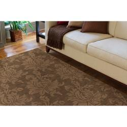 Hand Tufted Sophia Brown Wool Area Rug (8' x 10')