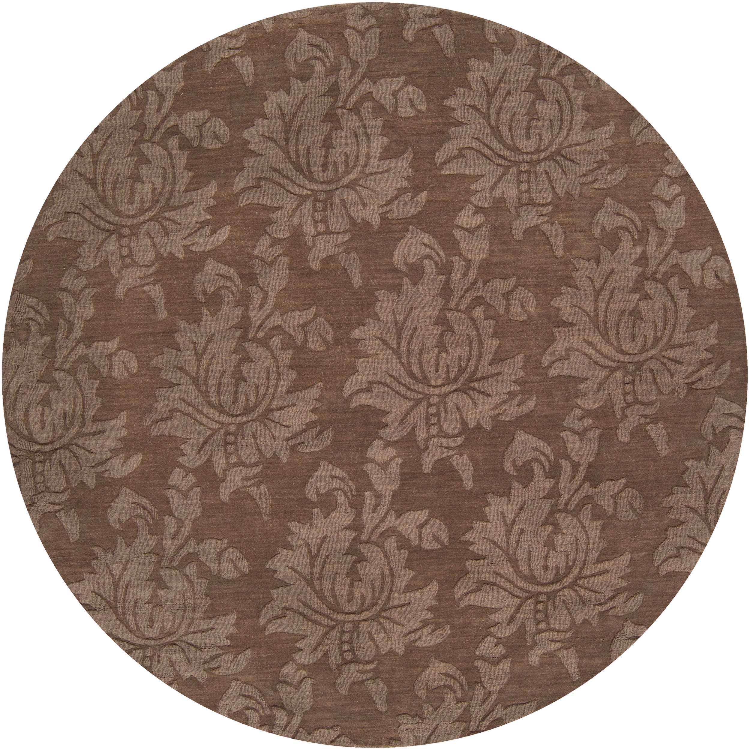 Hand Tufted Sophia Brown Wool Area Rug (8' x 8')