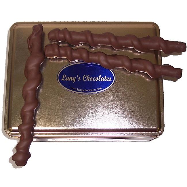 Lang's Chocolates 32-oz Milk Chocolate Caramel Pretzel Tin