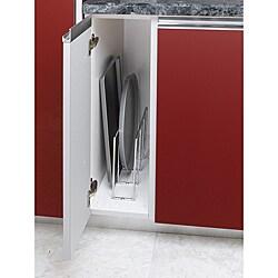 Cabinet-mount Chrome Wire Bakeware Organizer