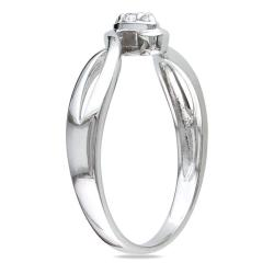 M by Miadora Sterling Silver 1/10ct TDW Diamond Twist Promise Ring (G-H, I2-I3)