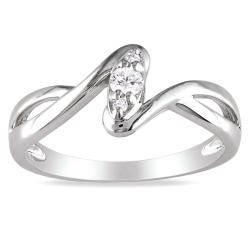 M by Miadora Sterling Silver 1/10ct TDW Diamond Twist Ring (G-H, I2-I3)
