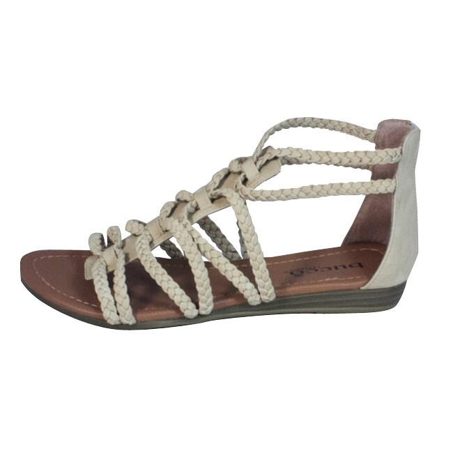Bucco Women's Braided Gladiator Sandals