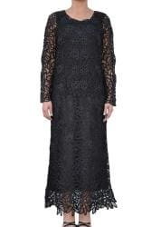 Soulmates Women's Hand-crocheted Black Formal 2-piece Dress Set