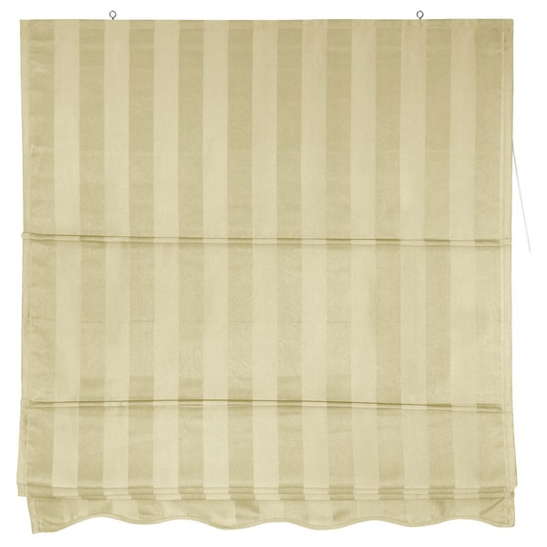 Striped Roman Shade (48 in. x 72 in.)(China)