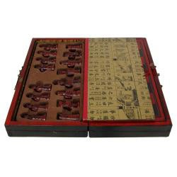 Wood Black Lacquer Chess Set Box (China)