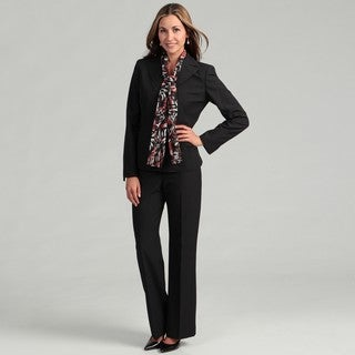 Evan Picone Women's 3 Button Seersucker Jacket w/Pant