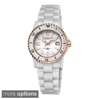 Stuhrling Original Women's Belladona Swiss Made Quartz Ceramic Bracelet Watch