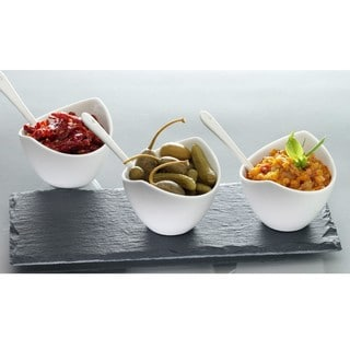 Luigi Bormioli Slate and Porcelain 7-piece Condiment Set