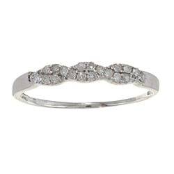 10k White Gold 1/5ct TDW Diamond Pave Band (G-H, I1-I2)