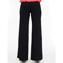 Shining Star Women's Black Knit Bootcut Pants
