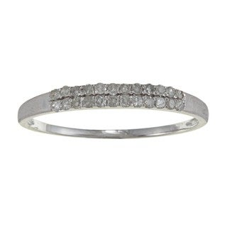 10k White Gold 1/5ct TDW Pave Diamond Band (G-H, I1-I2)