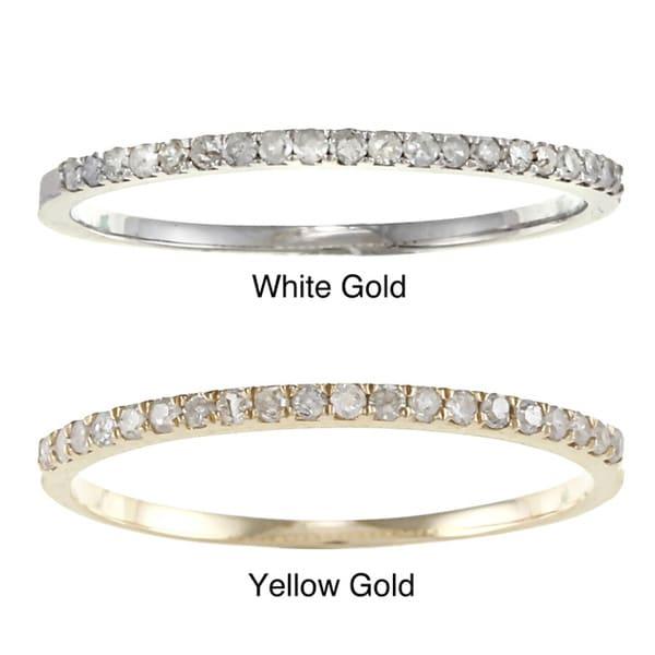 10k Gold 1/8ct TDW Diamond Thin Wedding Band (G-H, I1-I2)