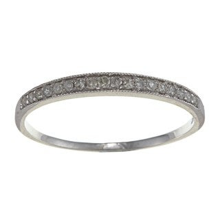 10k White Gold 1/6ct TDW Diamond Milligrain Band (G-H, I1-I2)