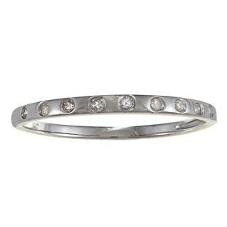10k White Gold 1/10ct TDW Diamond Band (G-H, I1-I2)