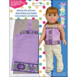 Fibre Craft Springfield Collection Bohemian Shirt and Pants Doll Ensemble