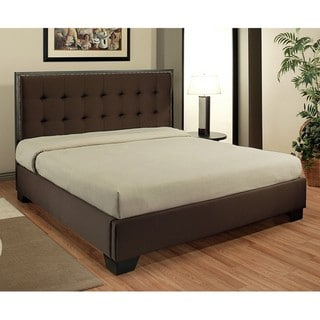 Abbyson Living Metropolitan Dark Brown Fabric King-size Platform Bed