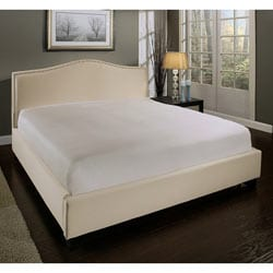 Abbyson Living Camden Cream Fabric Queen-size Platform Bed