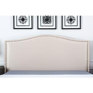 ABBYSON LIVING Camden Cream Fabric Queen-size Platform Bed