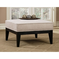 Abbyson Living Morgan Fabric Square Ottoman