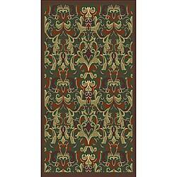 Woven Viscose Agra Emerald Area Rug (5' x 7')
