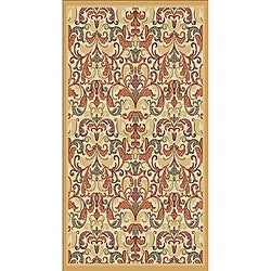 Woven Viscose Agra Gold Area Rug (5' x 7')