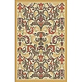 Woven Viscose Agra Gold Accent Area Rug (3'3 x 4'7)