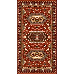 Woven Morocco Red Viscose Area Rug (5' x 7')