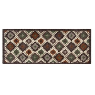 Blended Wool Ikat Earth Runner Rug (2'2 x 5'6)