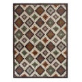 Blended Wool Ikat Earth Area Rug (5' x 7')