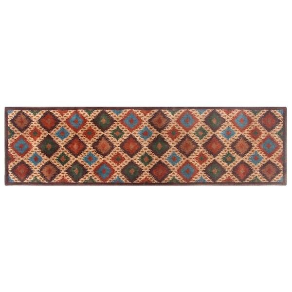 Blended Wool Ikat Sone Runner Rug (2'2 x 8')