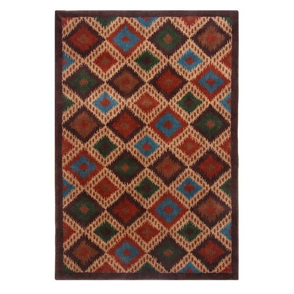 Blended Wool Ikat Sone Area Rug (4' x 6')