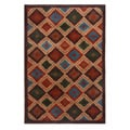 Blended Wool Ikat Sone Area Rug (4' x 6')