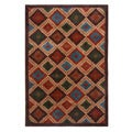Blended Wool Ikat Earth Area Rug (4' x 6')