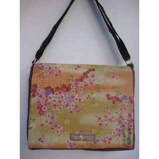 Two Trees Designs 'Cherry Blossoms' Medium Messenger Bag