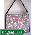 Two Trees Designs Grey 'Wise Elephants' Medium Messenger Bag