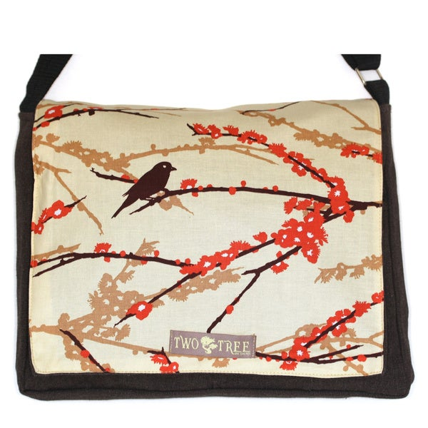 Two Trees Designs Brown Bird Medium Messenger Bag