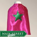 Power Capes Fuchsia and Kelly Green Star Superhero Cape