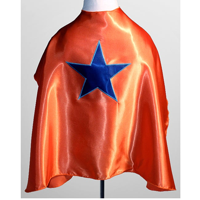 Power Capes Orange with Blue Star Superhero Cape