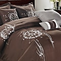 Arabesque Chocolate Brown Oversized 8-piece Comforter Set