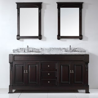 Virtu USA Huntshire 72-inch Double Sink Bathroom Vanity Set