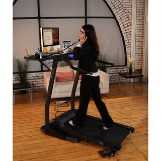 Exerpeutic 990 High-Capacity Work and Fitness Desk Station Treadmill