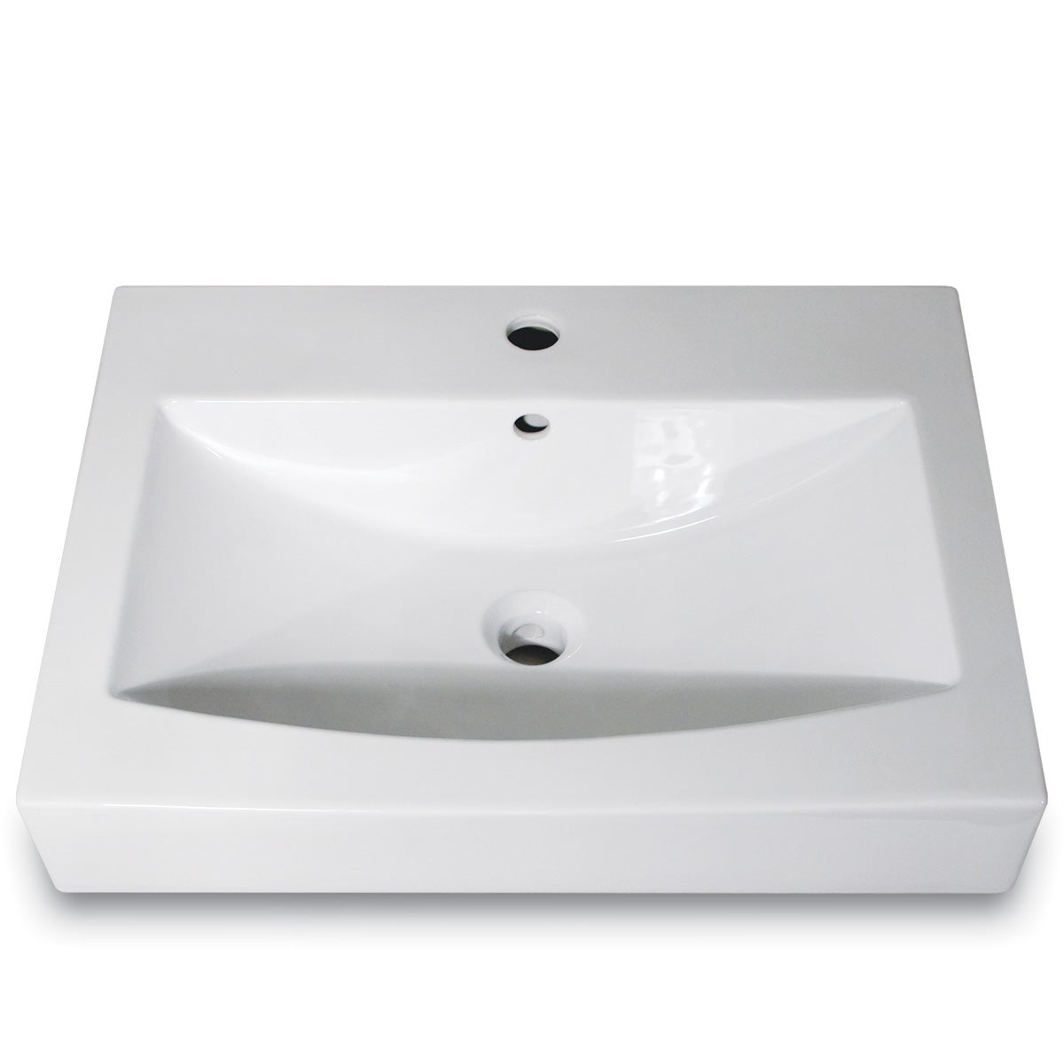Highpoint Collection Rectangular Vitrious China Vessel Sink
